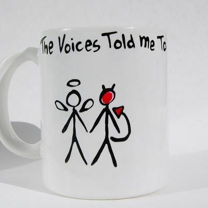 Funny Ceramic Coffee Mug - Angel & ..