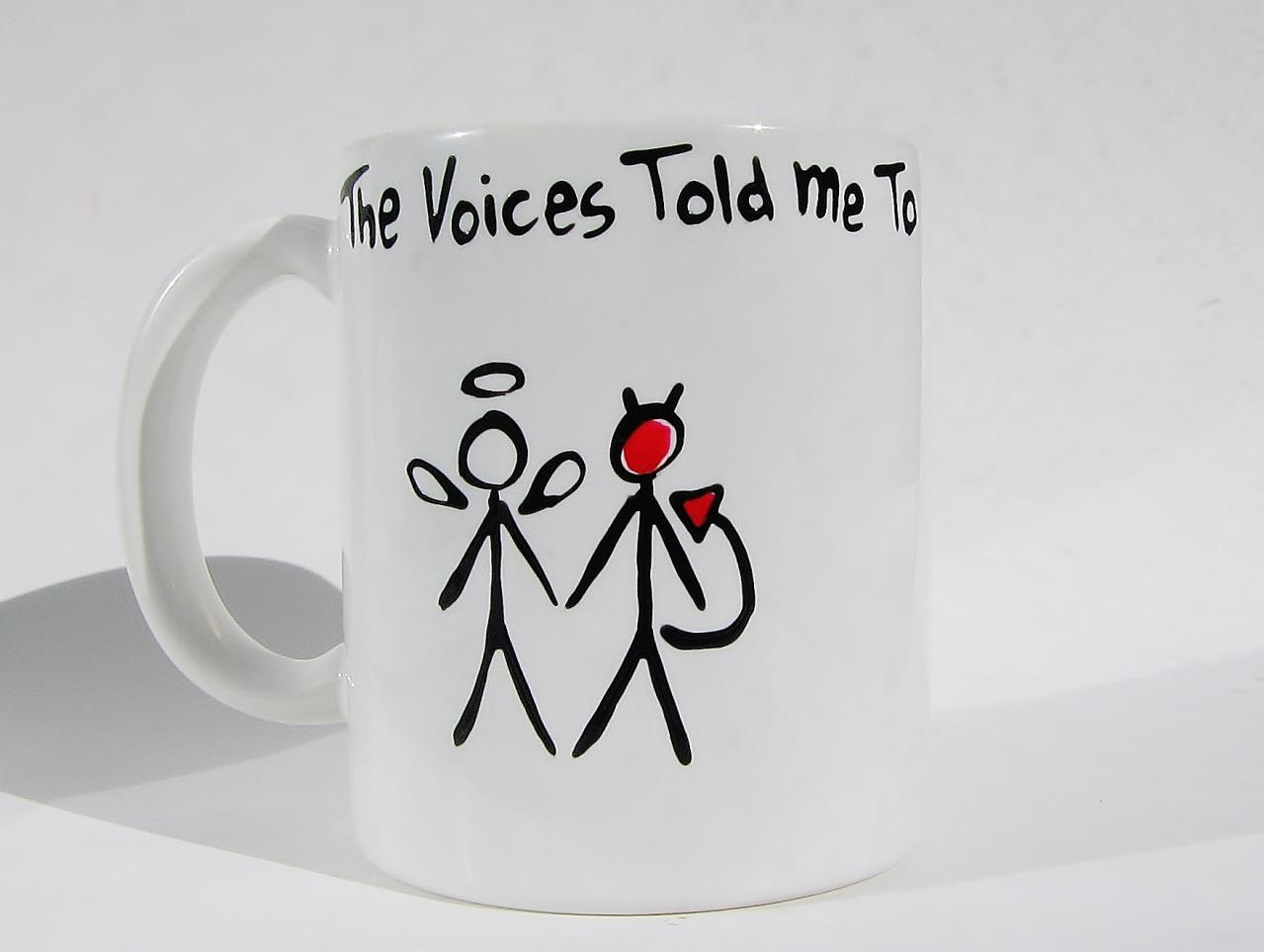 Funny Ceramic Coffee Mug - Angel & Devil