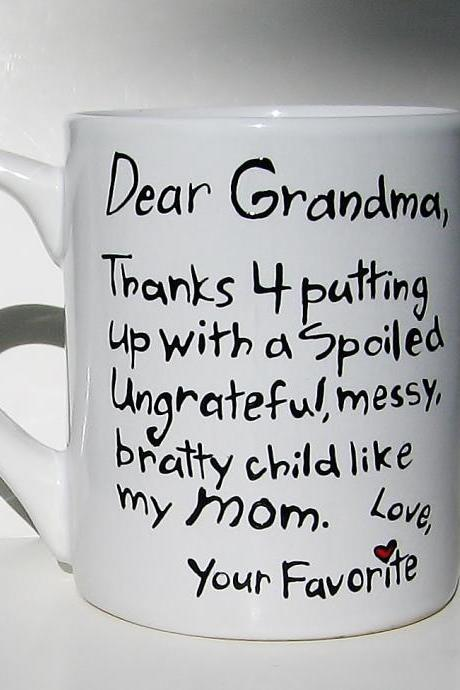 Ceramic Coffee Mug Mothers Day Gift for Grandma